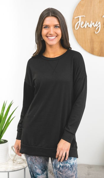 Back To Basics Tunic Top, Black *Final Sale*