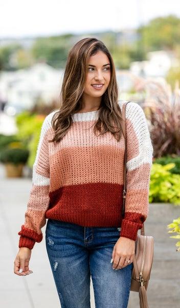 The Natasha Sweater, Mauve *Final Sale*