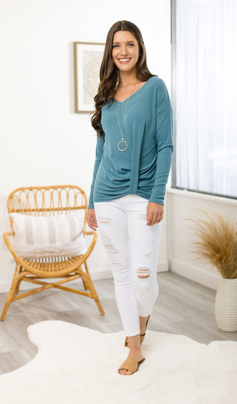 The Sammi Top, River Blue