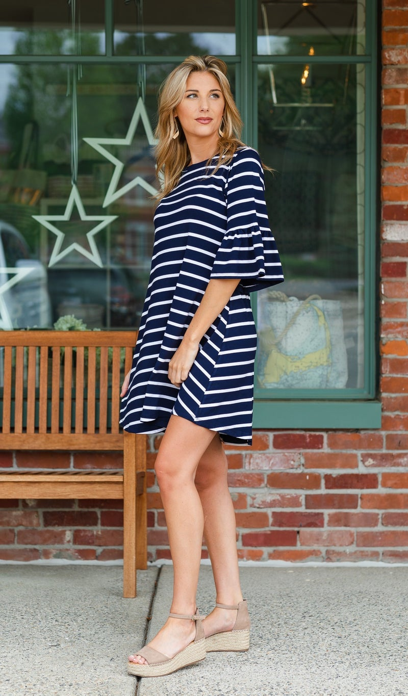 With The Wind Dress, Navy