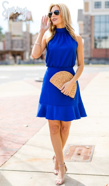 Your Lovely Day Dress, Royal Blue