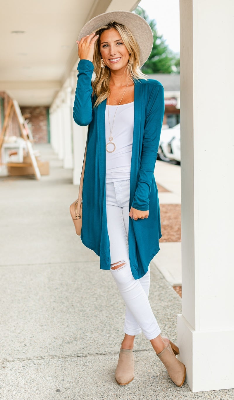 Pass On By Cardigan, Black, Teal or Navy