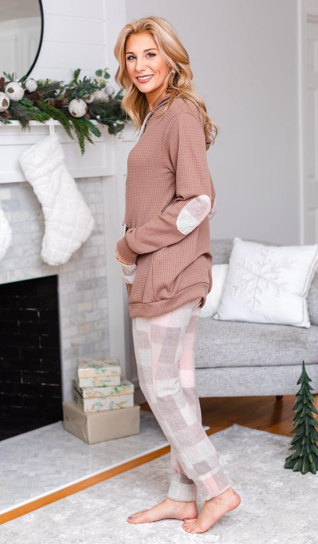 Perfect Plaid PJ Pants, Pink/Brown Check