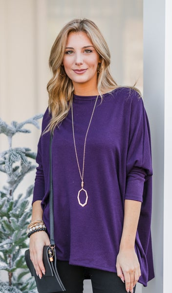 The Emmy Top, Plum
