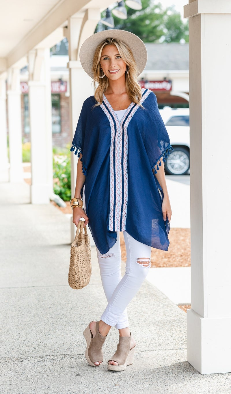 Solstice Tunic/Coverup, Navy