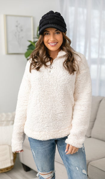 Feel The Warmth Pullover, Ivory