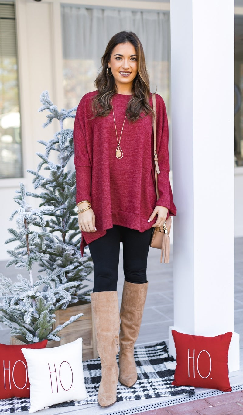 The Cassie Sweater, Red