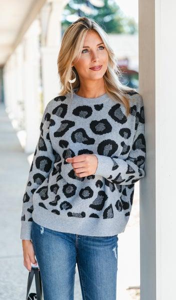 A Night Of Fun Sweater, Grey or Ivory