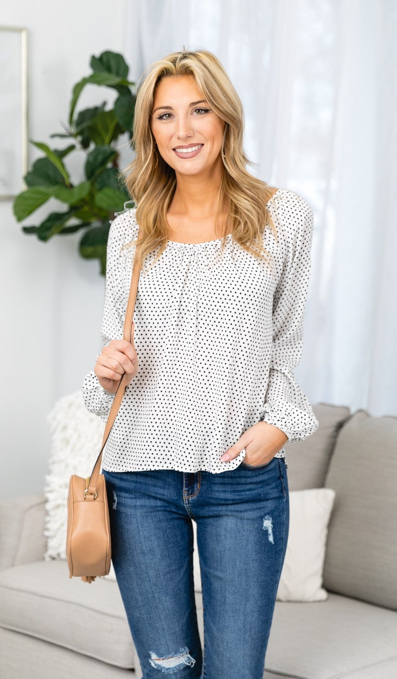 Feeling Free Blouse, Ivory