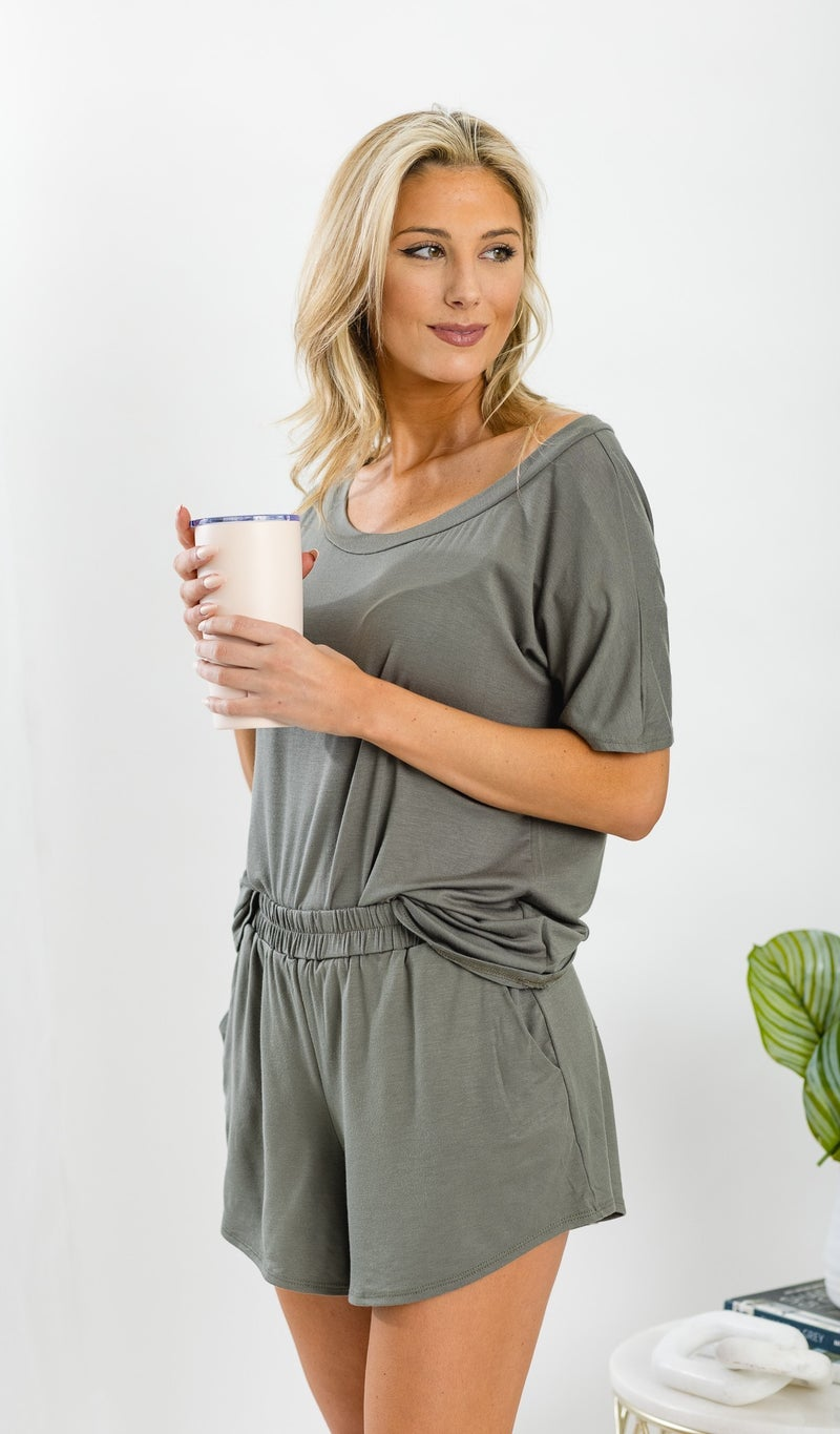 Lounge All Day Shorts, Black or Light Olive