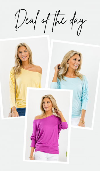 By Your Side Top, Yellow, Mint or Orchid