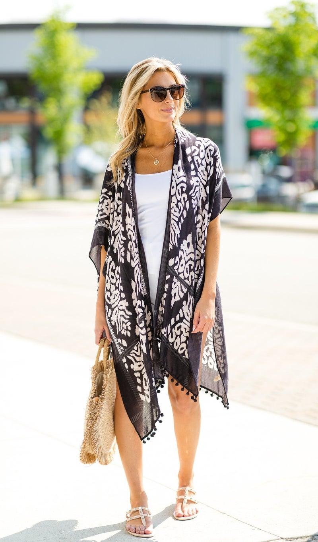 The Anguilla Kimono, Dark Gray