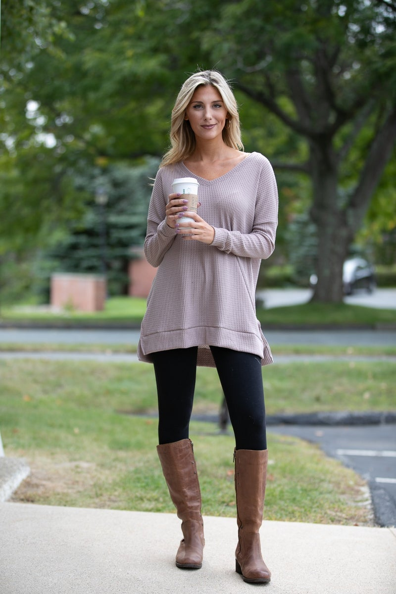 Feeling Fall Top, Mocha