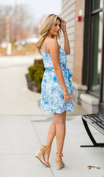 Life In Bloom Dress, Blue