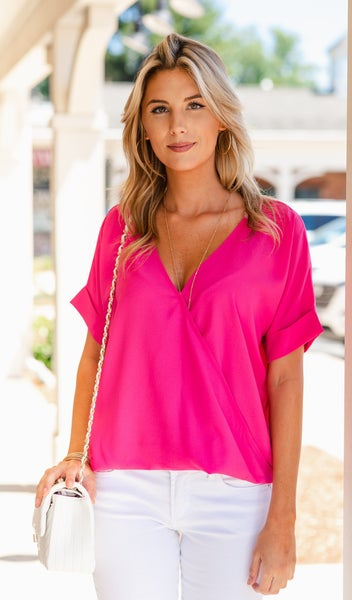 Monday Meeting Top, Navy or Pink