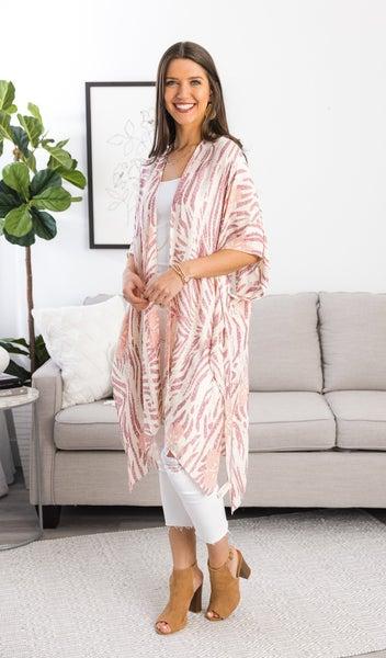 Front Row Kimono, Pink