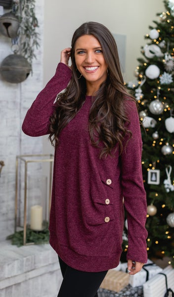 Off Duty Tunic, Wine