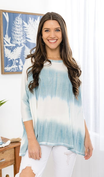 Waterfall Blues Top