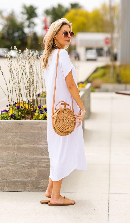 Lost in Paradise Knit Maxi  Dress, Royal, Mauve, Black, Navy, White