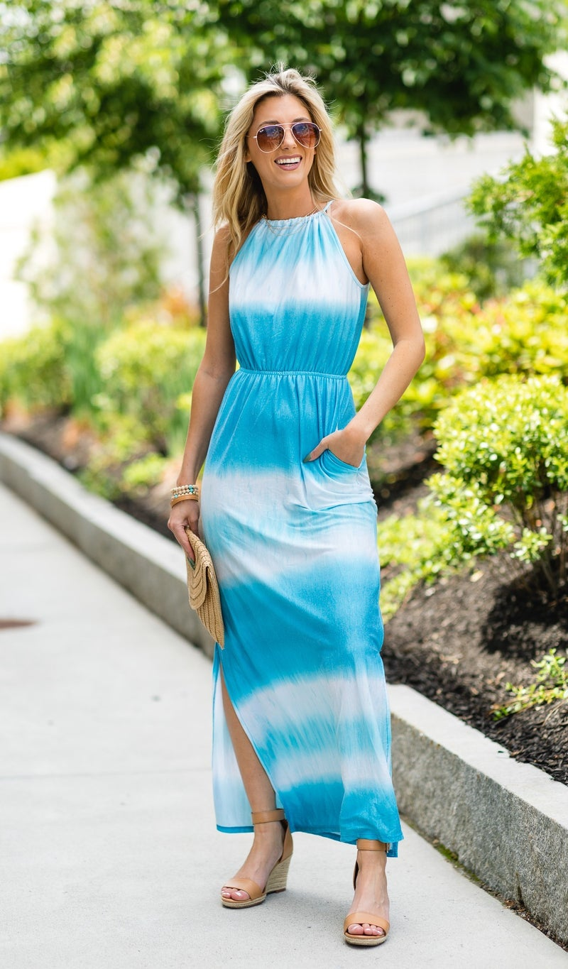 That Summer Feeling Maxi Dress, Turquoise
