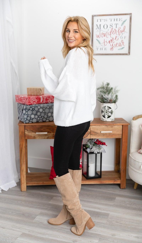 Winter White Sweater, White