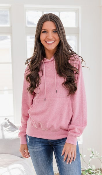 Peaceful Thoughts Hoodie, Pink