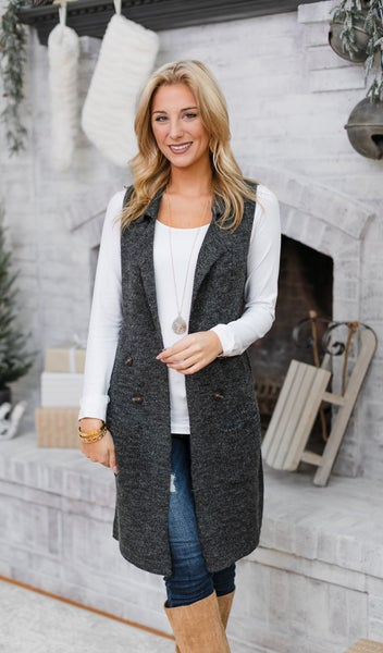 Nothing But Warmth Vest, Charcoal