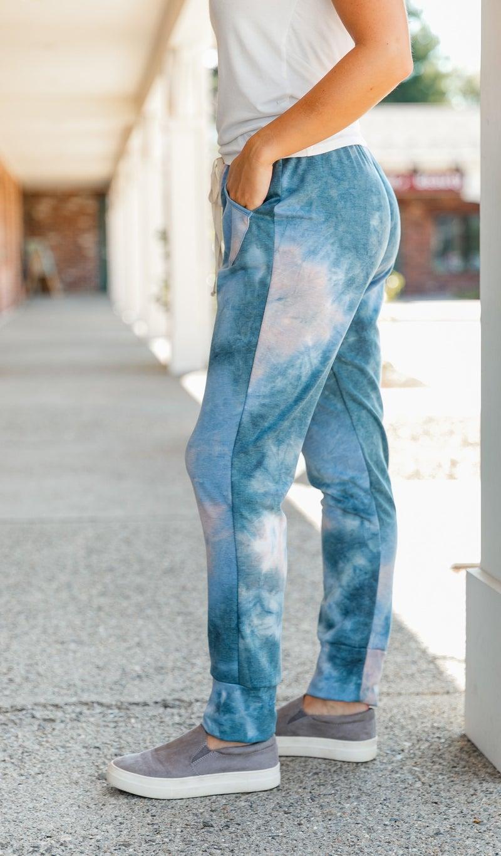 Take It Back Jogger, Blue/Teal Tie-Dye