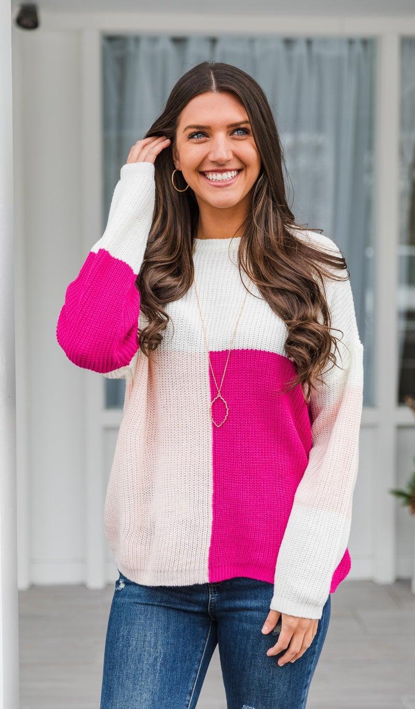 Bright Winter Sweater, Pink