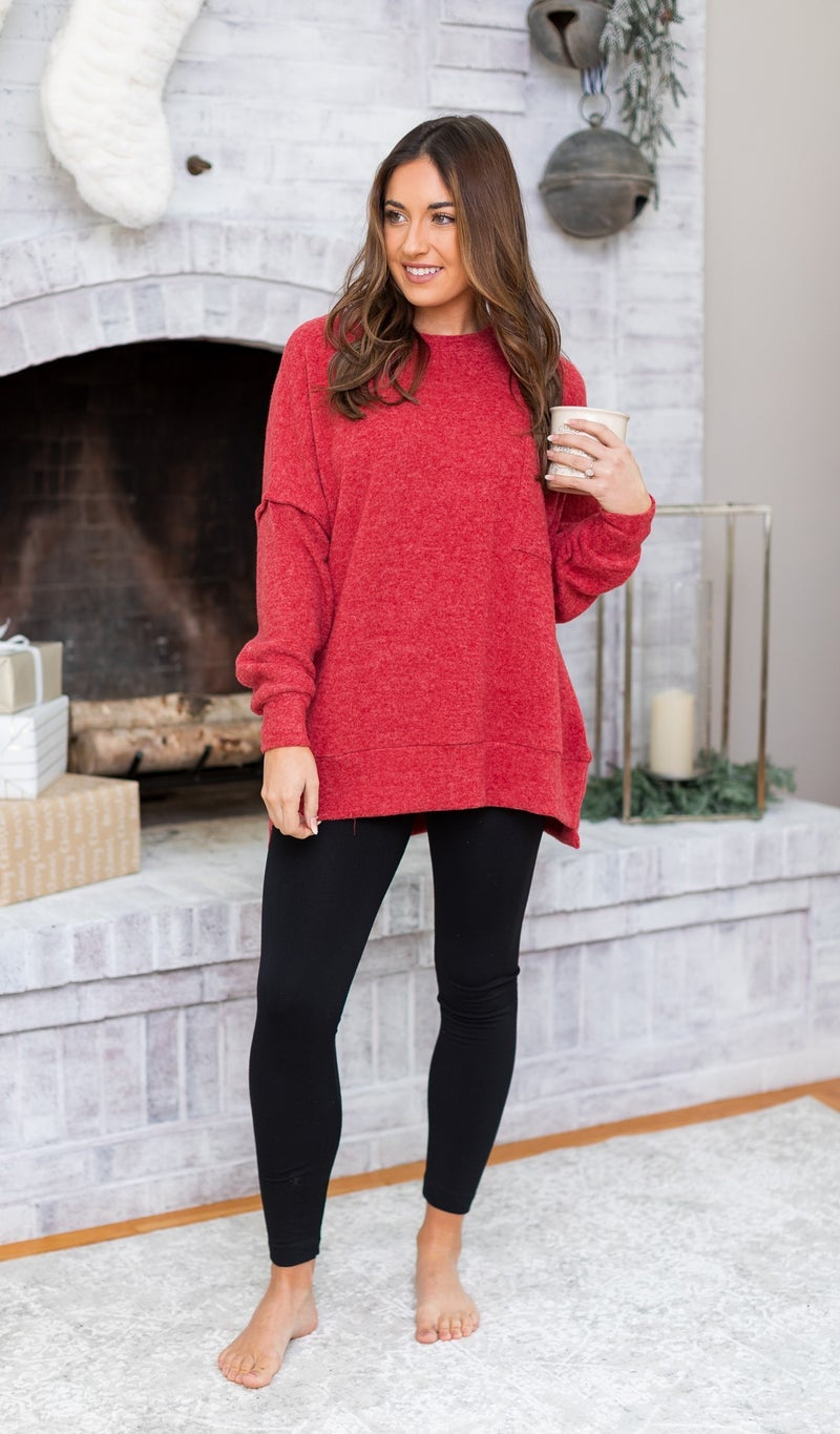 Soft Meadows Sweater, Red , Black, Grey or Green