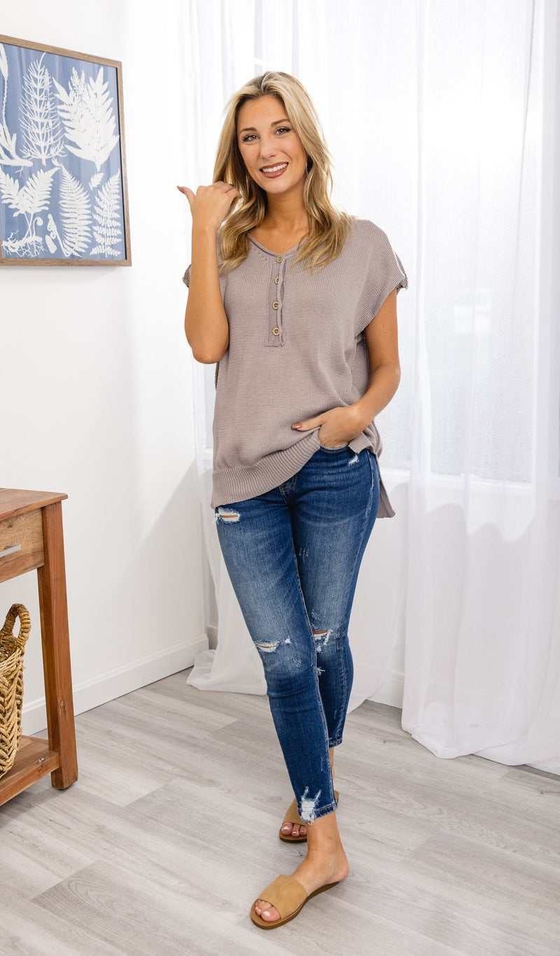 The Courtney Sweater, Light Taupe