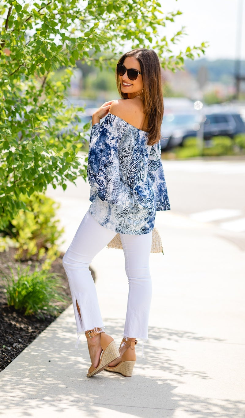 The Brooke Blouse, Navy
