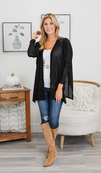 Comfy As Always Cardigan, Black