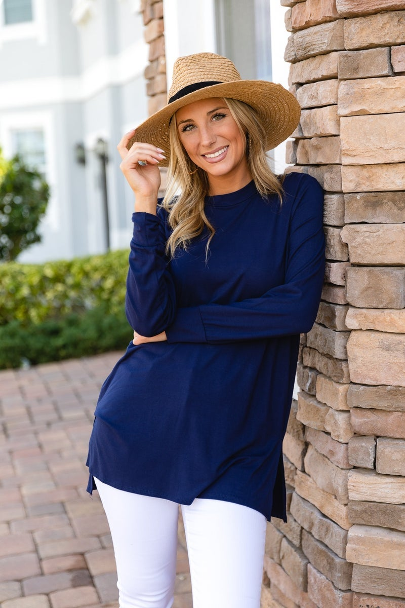 Anything But Basic Tunic, Navy