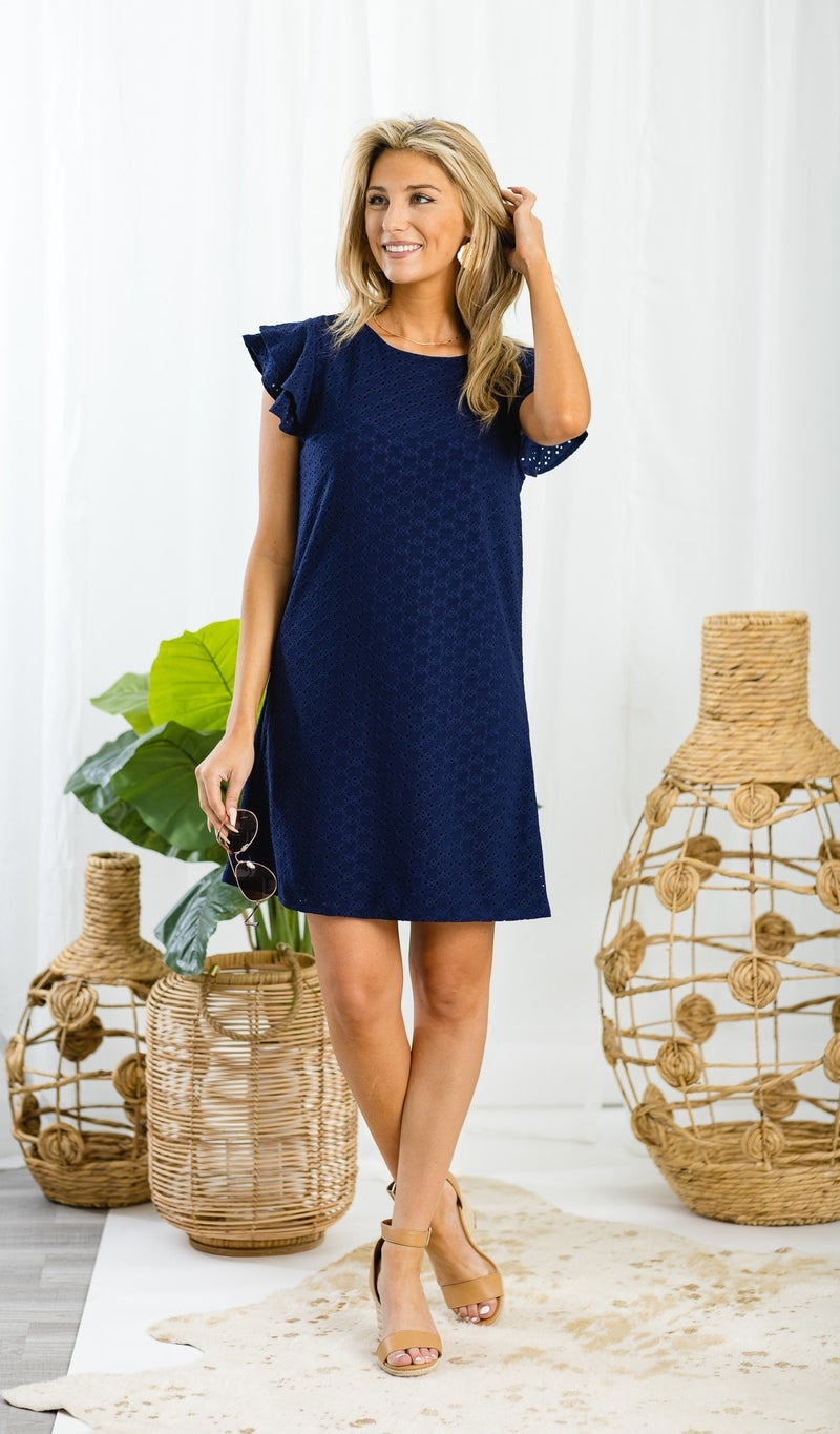 Dance With Me Dress, Navy