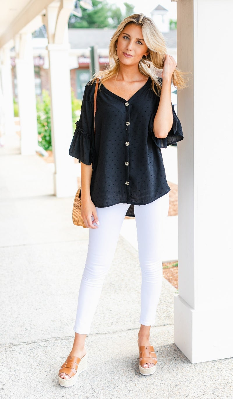 Laylah Top, Black or Ivory