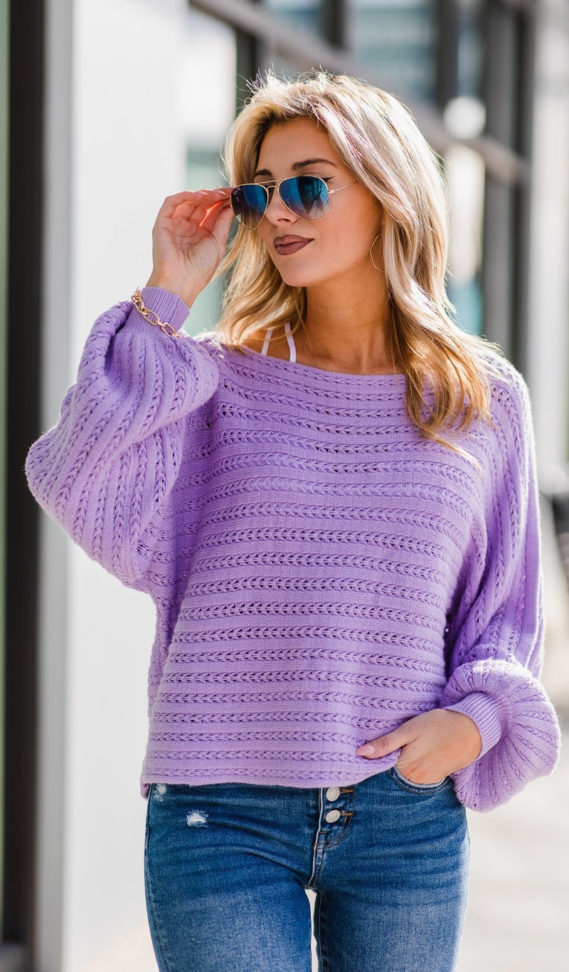 First Love Sweater, Lavender