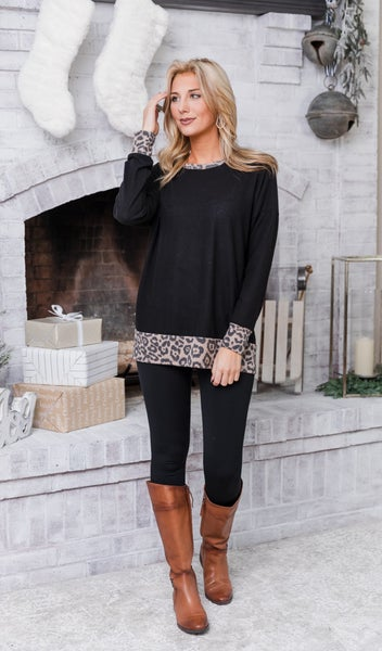 The Are Tunic/ Top, Black