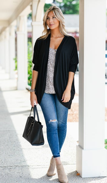 Cool Nights Cardigan,Black