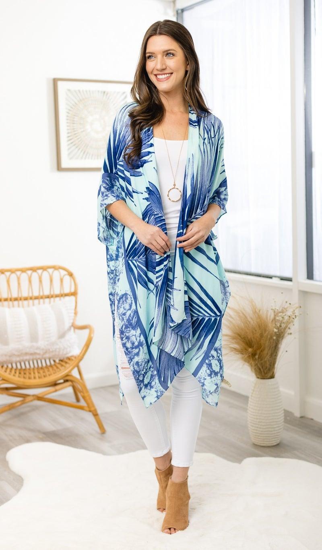 Coast to Coast Kimono, Blue