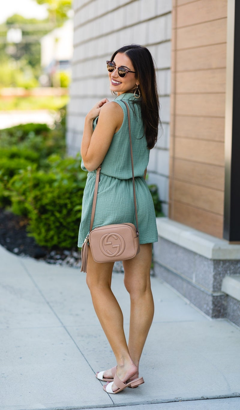 The Gia Romper, Sage Green