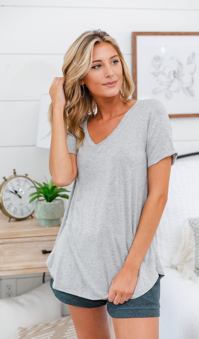 Go-To Tee, Black, Grey or Ivory