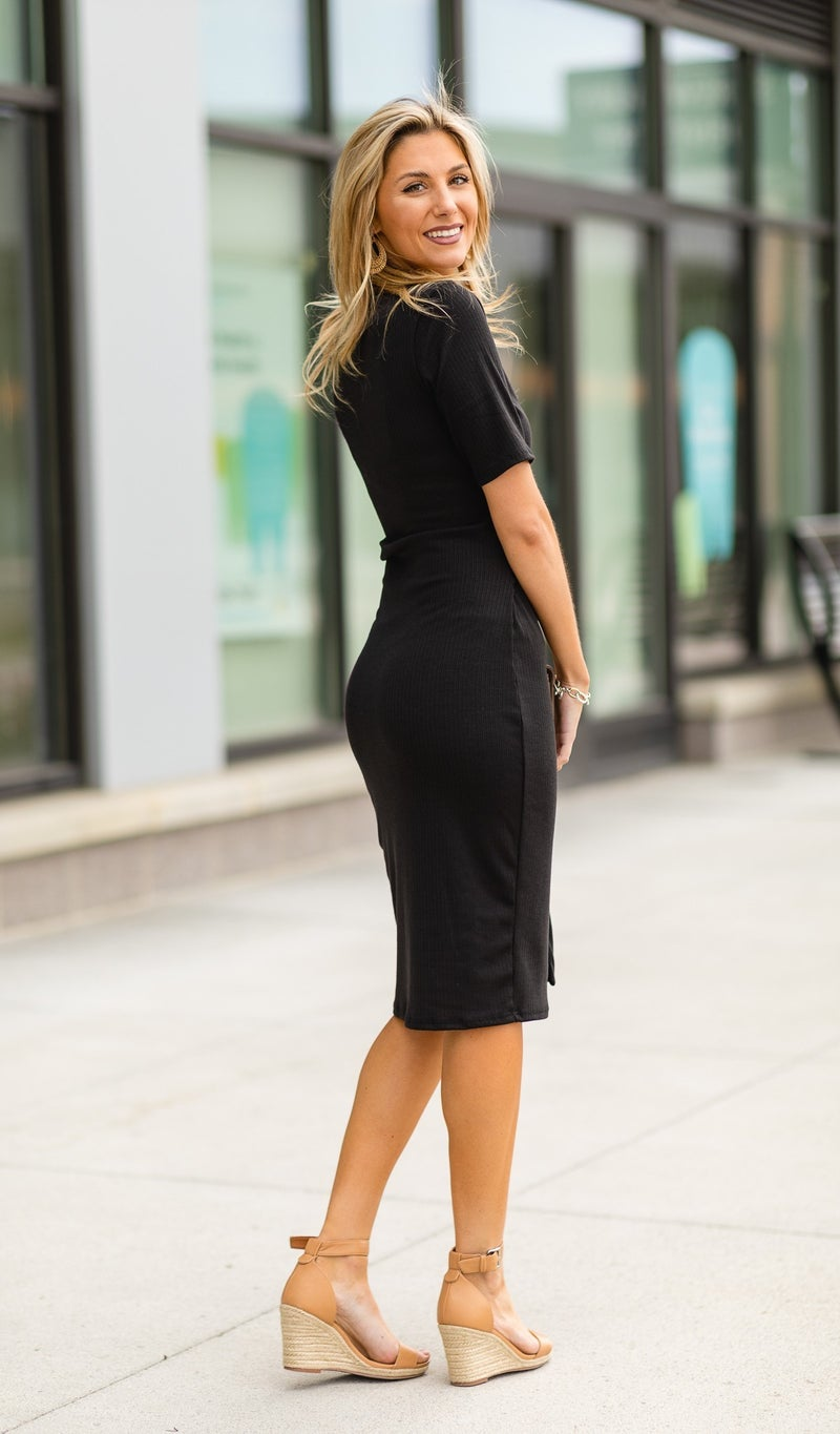 Attention Seeker Dress, Black