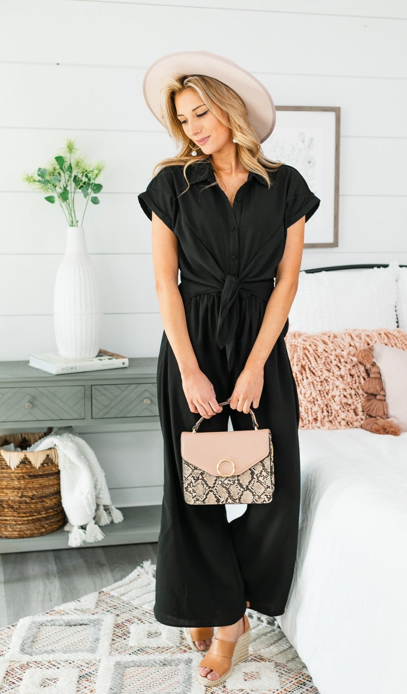 Be The One Jumpsuit, Black