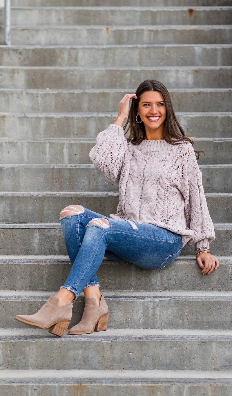 The Emmy Sweater, Taupe