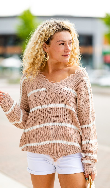 Beach Night Sweater, Taupe