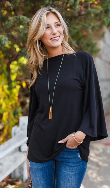 Classic Love Top, Black, Navy, or Hunter