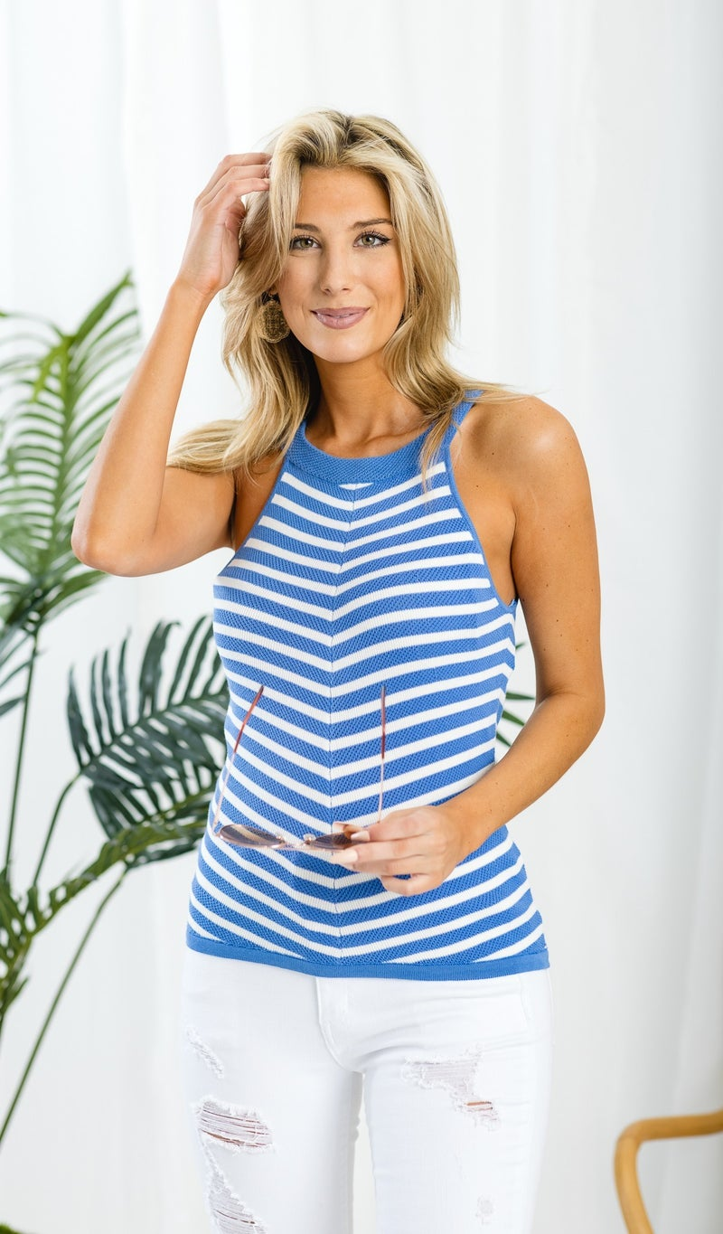 The Baylee Tank, Periwinkle Blue