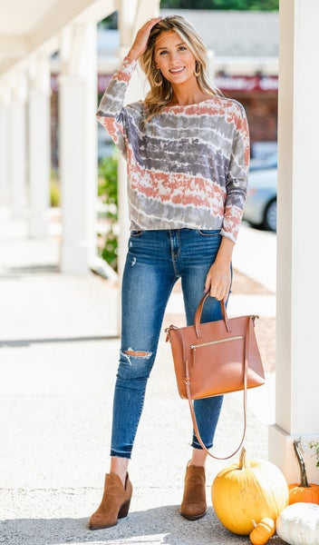 Find Your Way Top, Rust Print