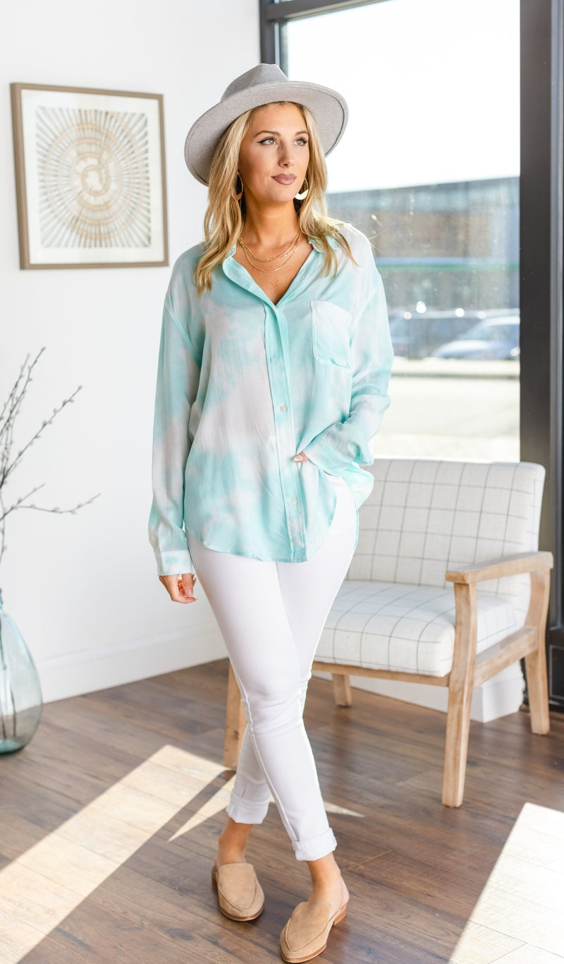 Feel The Breeze Blouse, Mint